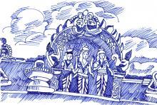 Lord muruga with goddess   S. Sriraman   Class VIII-B   VVR